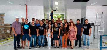 Alunos realizam visita técnica às obras de ampliação do IESP
