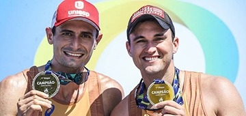 Atleta UNIESP, André Stein vence primeira etapa do Circuito Nacional de Vôlei de Praia