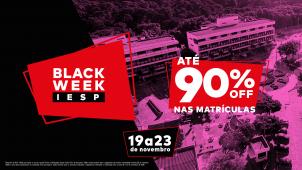 Black Week IESP oferece até 90% de desconto para novas matrículas