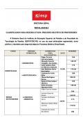 Classificados para a 2º etapa de seleção dos docentes IESP