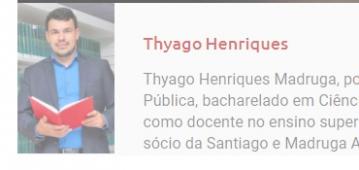 Coordenador de Contábeis e Gestão Financeira, Thyago Henriques, é o novo colunista do Parlamento PB