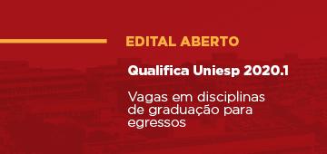 Divulgado edital do programa Qualifica Uniesp 2020.1