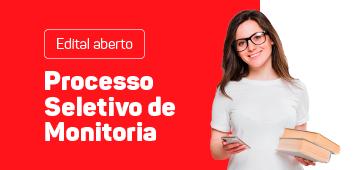Edital aberto   Processo Seletivo de Monitoria 2020.2