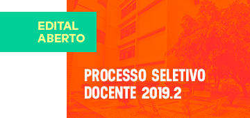 Edital | Processo Seletivo Docente 2019.2