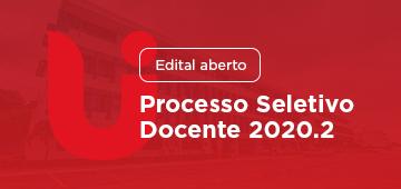 Edital: Processo Seletivo Docente 2020.2
