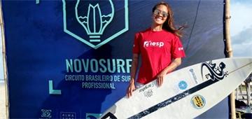 Estudante IESP, Rayssa Fernandes fica em 5º no Circuito Brasileiro de Surf Profissional