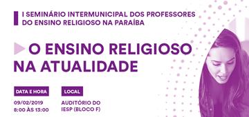 I Seminário Intermunicipal de Ensino Religioso na Paraíba