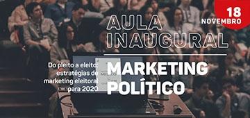 Pós-graduação MBA em Marketing Político realiza aula inaugural nesta segunda (18)