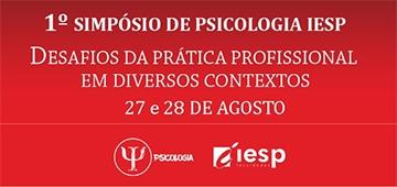 Primeira edição do Simpósio de Psicologia IESP acontece nos dias 27 e 28 de agosto