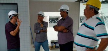 Professores dos cursos de Engenharia do IESP visitam as obras de ampliação do Campus