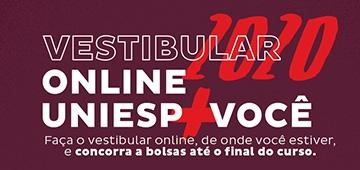 Uniesp lança vestibular totalmente online para semestre 2020.2