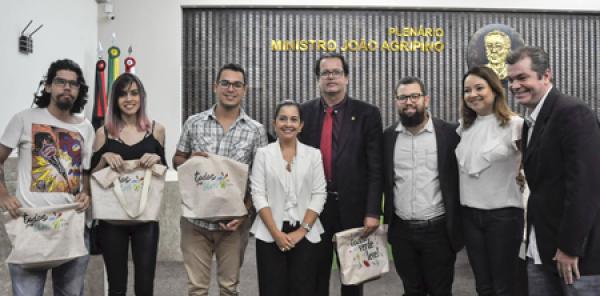 Lançamento da campanha desenvolvida para o TCE-PB pela Agência Jr. Novos Criativos
